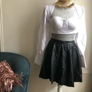 Faux Leather Skirt from H&M